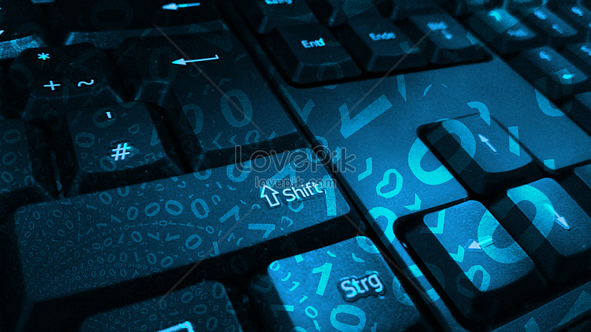 Messy code on the keyboard creative image_picture free