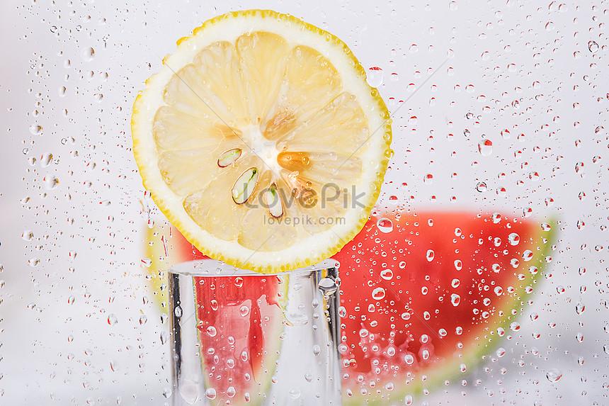 creative watermelon and lemon combination