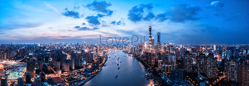 aerial view of shanghai city