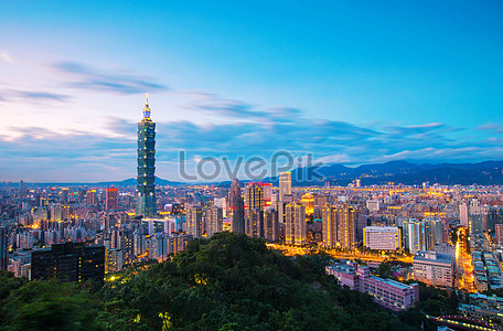 Night view of the 101 building in Taipei, Taiwan, China jpg