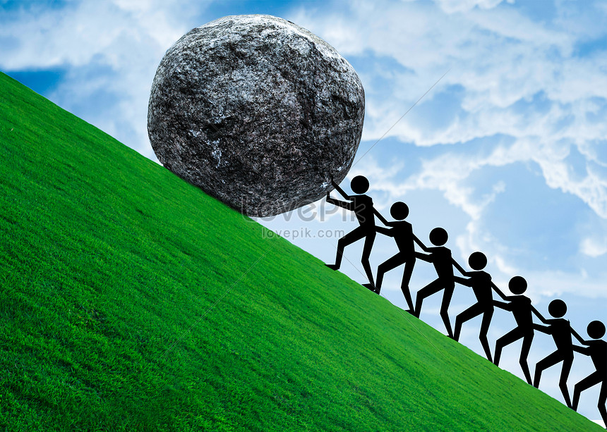 The strength of team unity creative image_picture free download