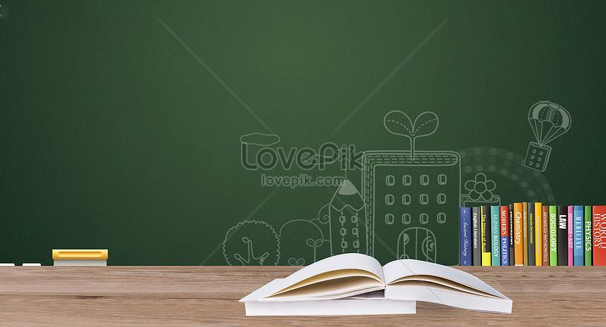 Blackboard Book Education Background Creative Image Picture Free Download 500538233 Lovepik Com