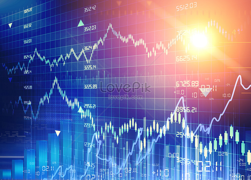 chart of stock market statistics financial exchange trading map