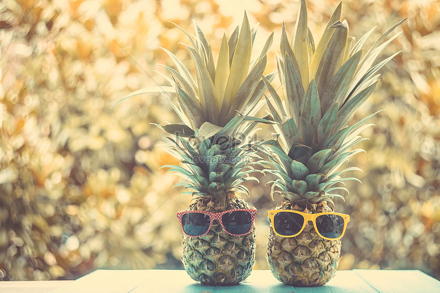 kreative ananasplatzierung