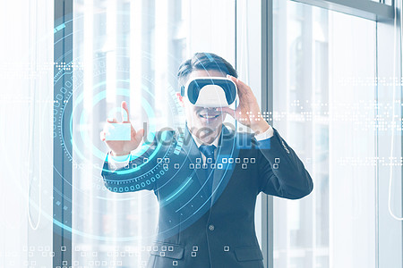 Mobile phone project vr creative image_picture free download