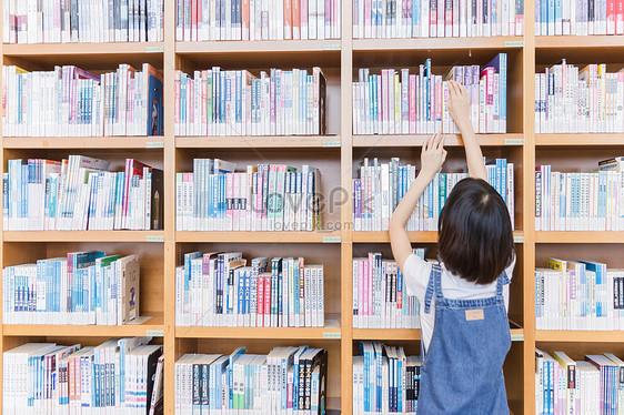 Looking For Books On The Bookshelf Of Universitys Girls Li