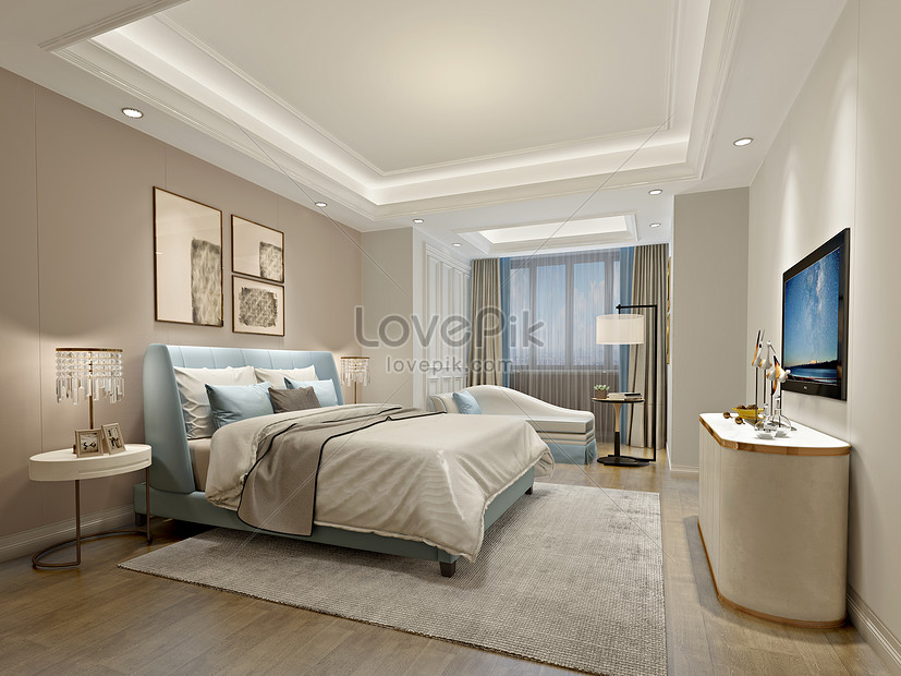 Modern Simple Wind Warm Bedroom Interior Design Effect Map Photo Image Picture Free Download 500591834 Lovepik Com