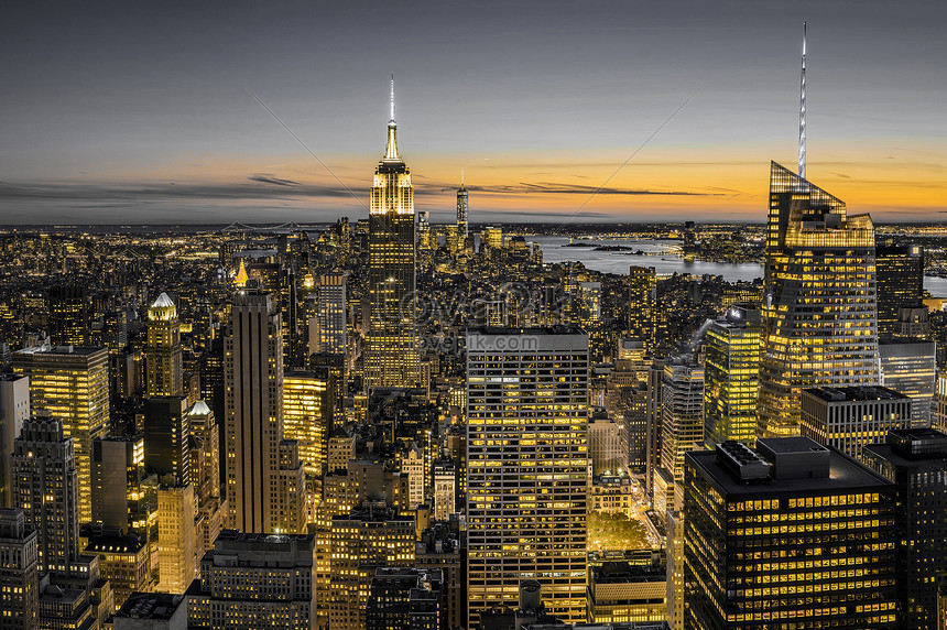New York Black Gold Scenery Photo Image Picture Free Download 500591998 Lovepik Com