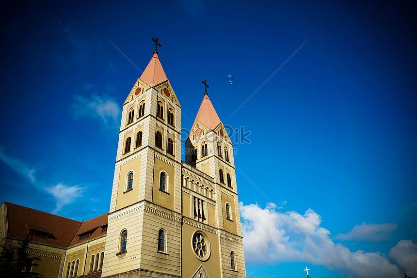 a church under the blue sky