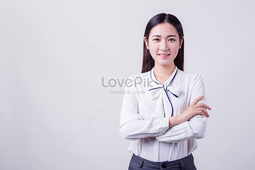 beautiful and confident professional female sheds