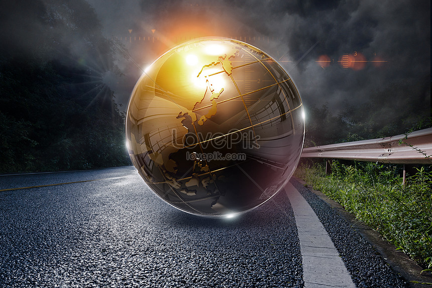 High definition atmosphere global map creative image_picture free