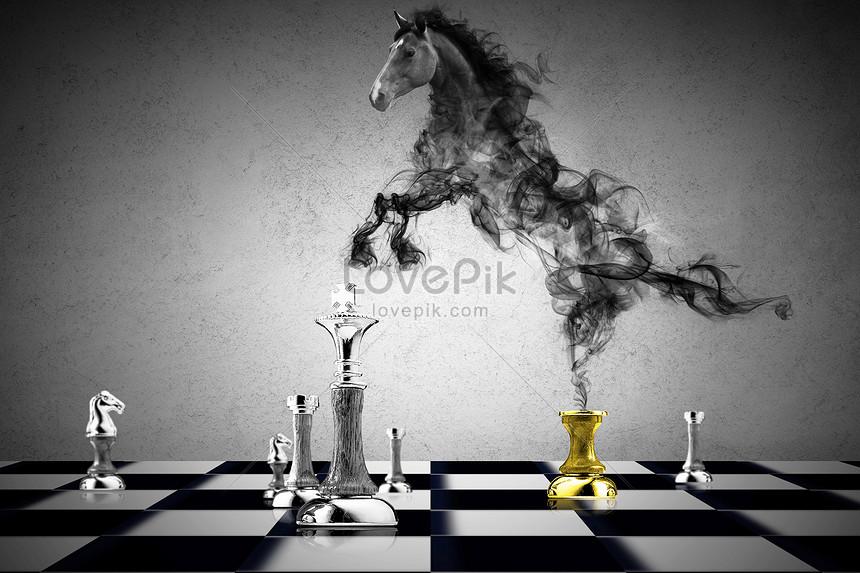 khói cưỡi trên cờ vua