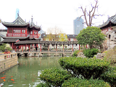 Yu garden in shanghai, her back photo image_picture free download ...
