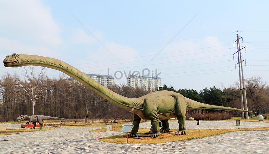 the dinosaur garden in the heilongjiang botanical garden