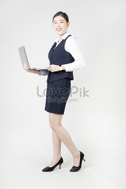 a business woman with a computer office