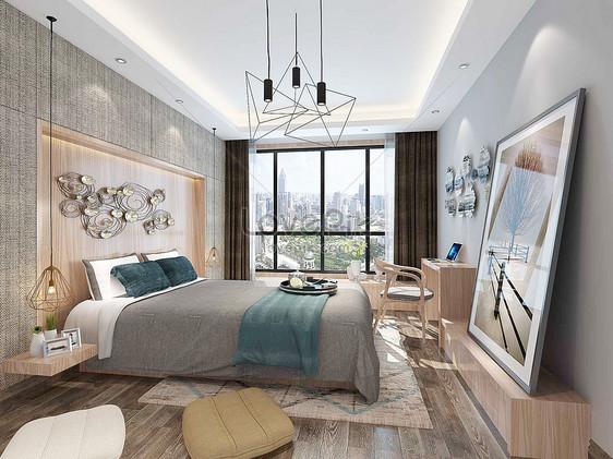 Camere Da Letto Nordiche : Rendering camera da letto in stile nordico immagine gratis foto