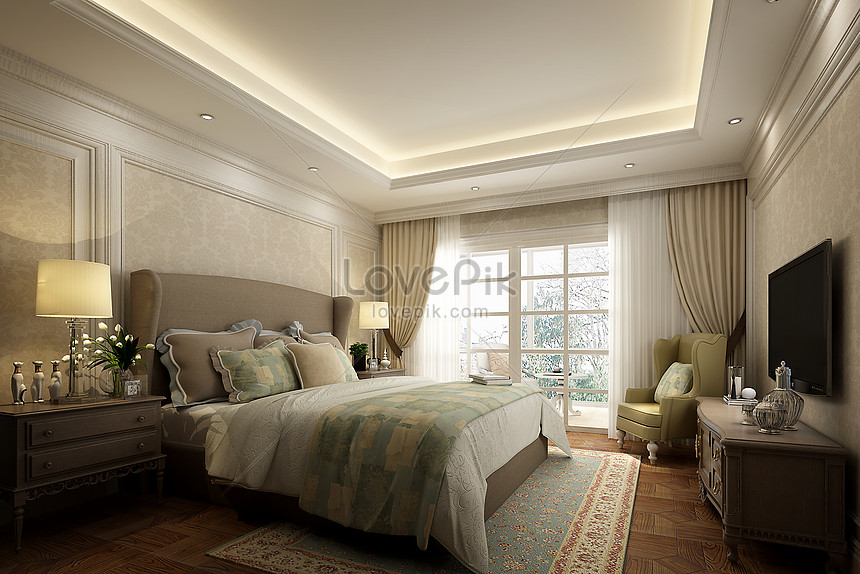 Nordic Style Concise Bedroom Interior