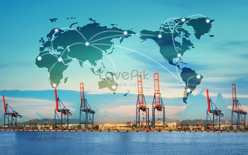rota de transporte marítimo do porto marítimo