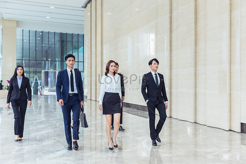 business team on the move