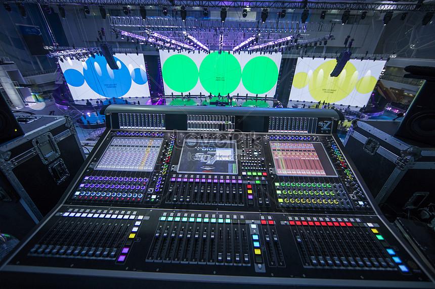 etapa de la consola de computadora detrás del escenario Imagen ...