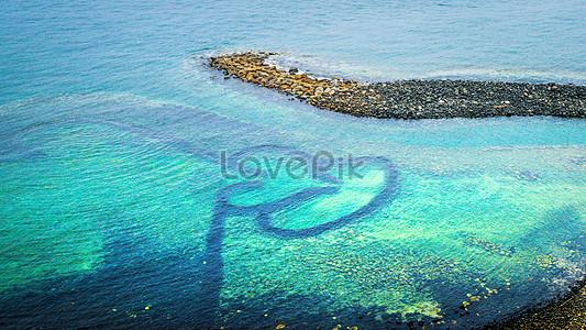 Seven United States Island, Penghu, Taiwan, double heart stone a jpg