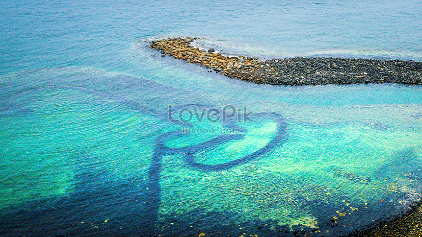 seven united states island penghu taiwan double heart stone a