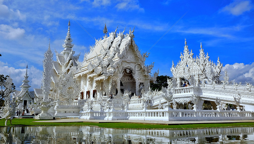 Qing lai white temple in thailand photo image_picture free download