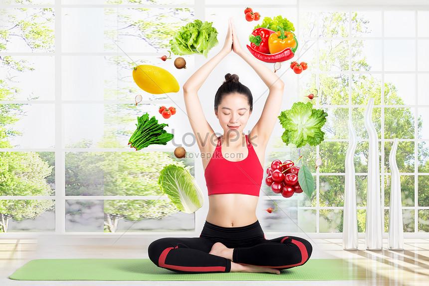 fitness yoga yoga fruits et légumes