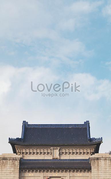 Bangunan Kuno Di Tempat Wisata Nanjing Gambar Unduh Gratis
