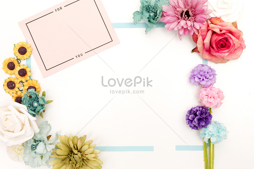Kad Ucapan Kad Dengan Latar Belakang Bunga Putih Gambar Unduh Gratis Imej 500778161 Format Jpg My Lovepik Com
