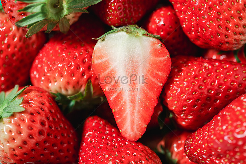 fresh strawberry material