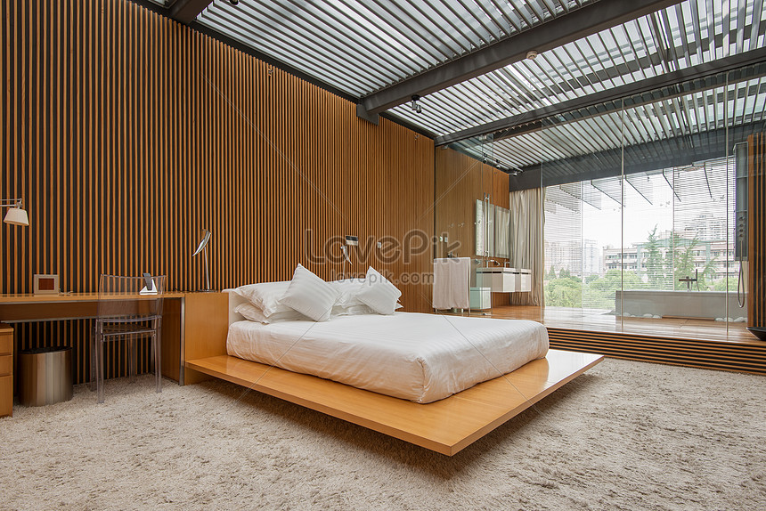 Nordic Simple Bedroom Model Room Photo