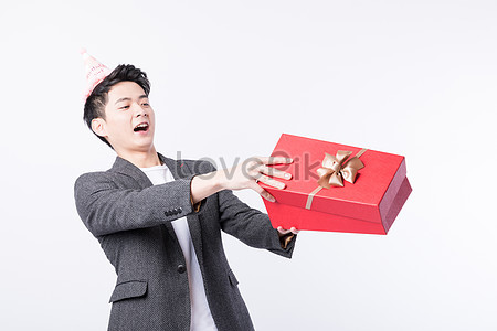 A Young Man Who Received Surprise Birthday Present Photo
