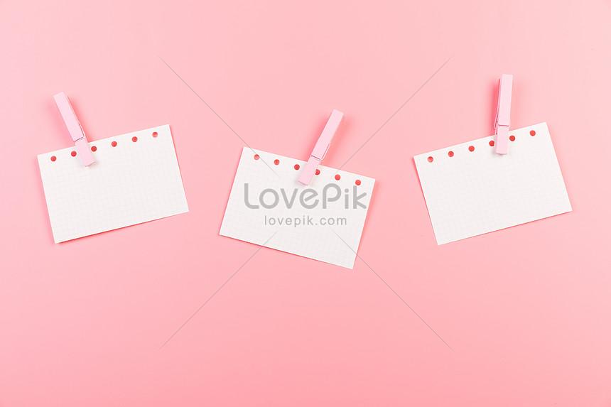 Tấm Giấy Màu Hồng Tạo Ra Nền để Lại Lời Nhắn Hình ảnh định