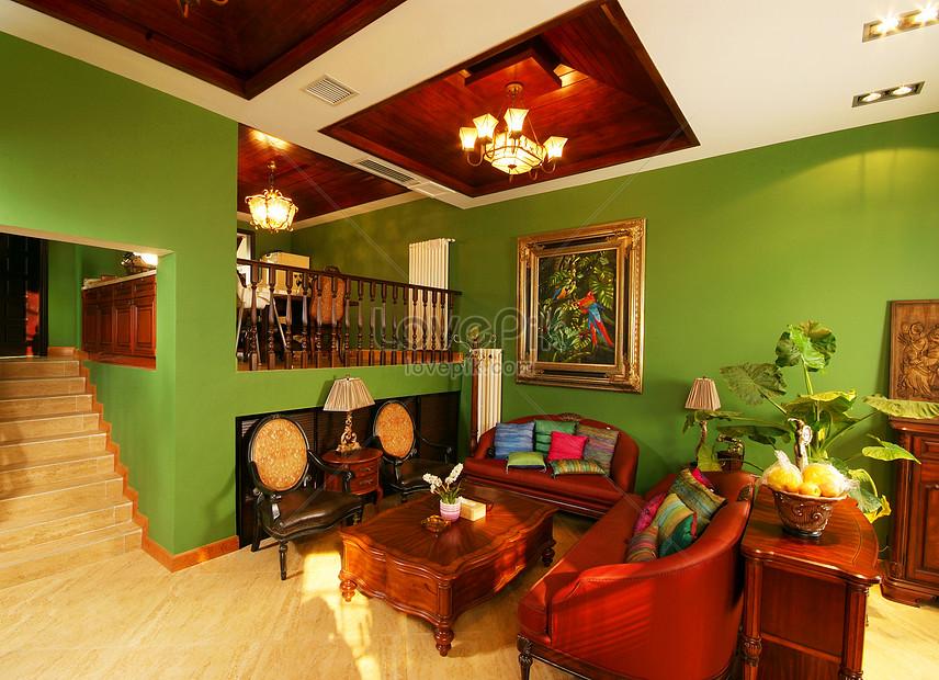 Photo de salon modèle de décoration canapé real shot picture ...