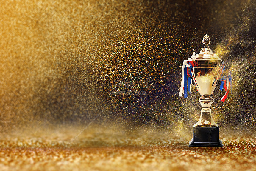 golden background of the trophy