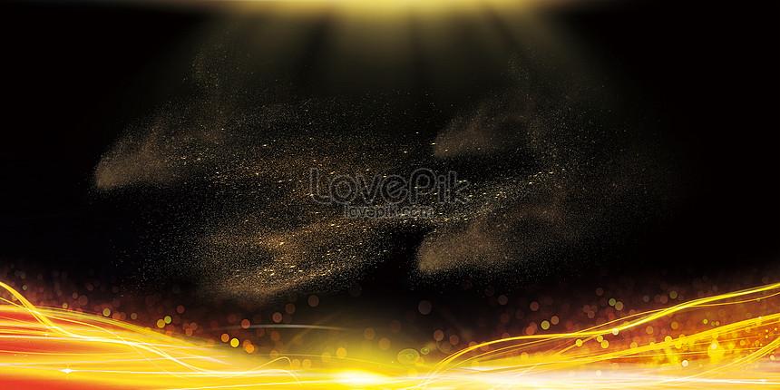 fundo atmosférico de ouro preto