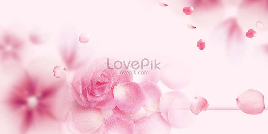 romantic pink poster background