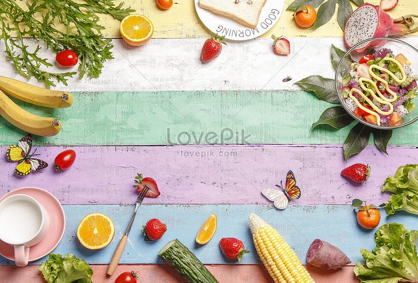 spring food background