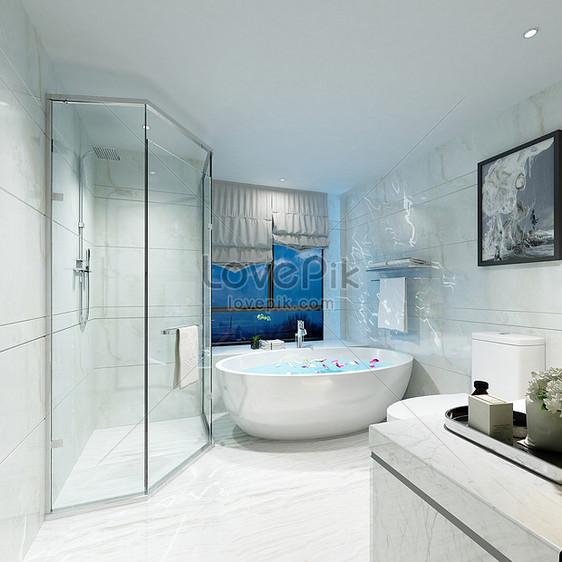 Charmant Nordische Badezimmer Renderings