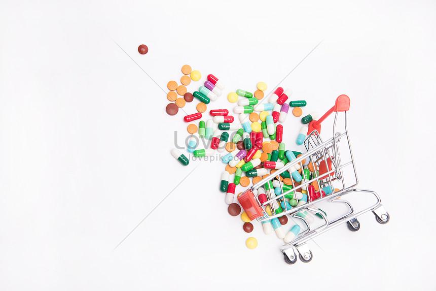 ショッピングカートと薬