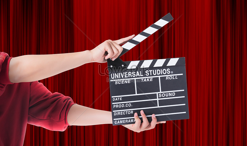 Hand Clapperboards Movie Background Creative Image Picture Free Download 500874752 Lovepik Com