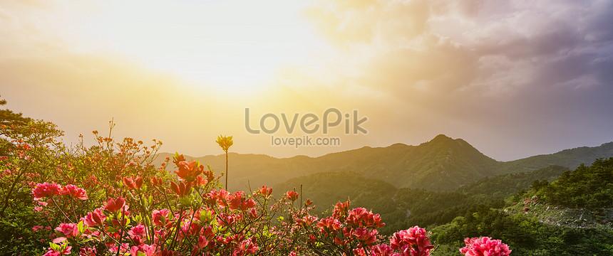 Gambar Pemandangan Senja Lukisan Pemandangan Alam Yang