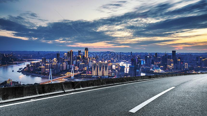 urban road background of chongqing