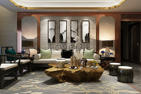Design Of The Space Scene Of Chinese Living Room Creative ...