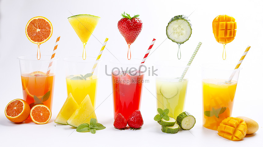 summer fruit juice series