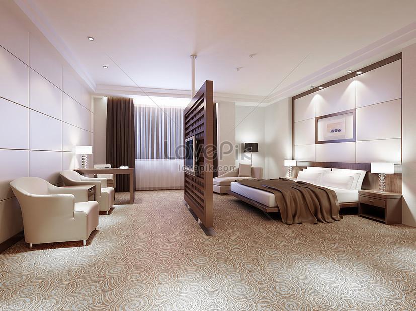 rendering di camera da letto moderna Immagine Gratis_Foto ...