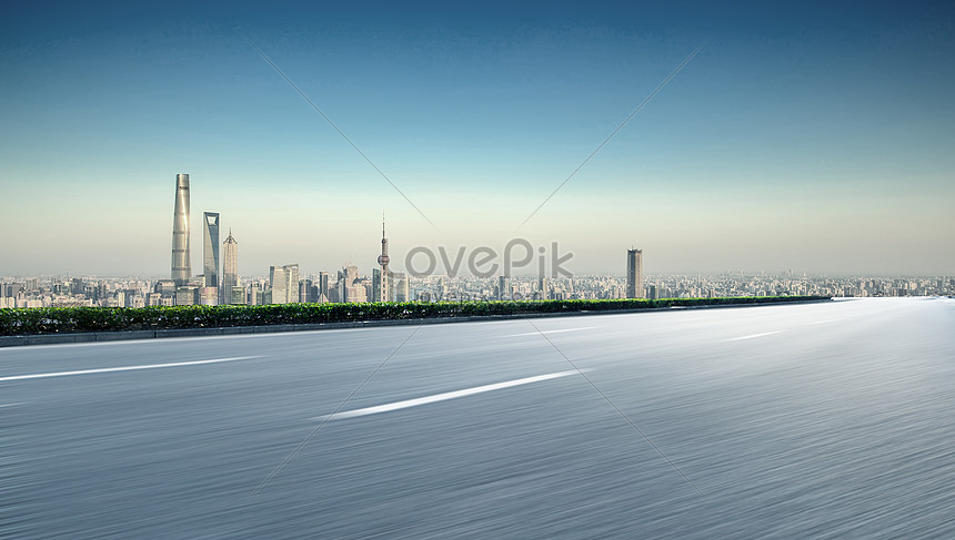 urban road background