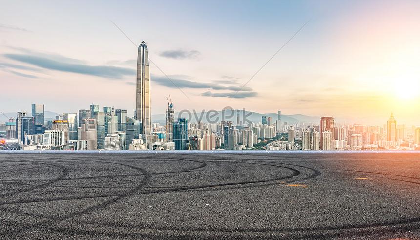 urban road background
