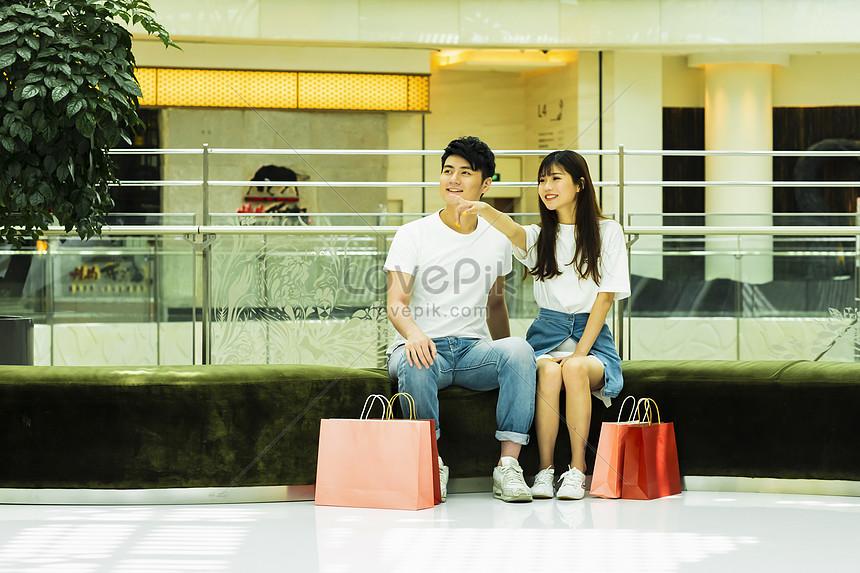 couple shopping malls